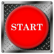 Start metallic icon — Stock Photo