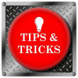 Tips and tricks metallic icon — Stock Photo