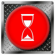 Hourglass metallic icon — Stock Photo