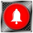 Bell metallic icon — Stock Photo