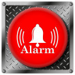 Alarm metallic icon — Stock Photo