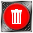 Bin metallic icon — Stockfoto #31533621