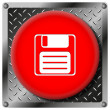 Save metallic icon — 图库照片