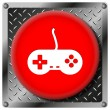 Gamepad metallic icon — Stock Photo #31533783
