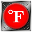Fahrenheit metallic icon — Stock Photo