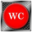 Stock Photo: WC metallic icon