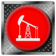 Oil pump metallic icon — Stock Photo