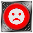Sad smiley metallic icon — Stock Photo #31533951