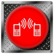 Communication metallic icon — Foto de Stock
