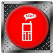 MMS metallic icon — Stock fotografie