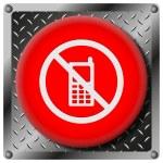 Постер, плакат: Mobile phone restricted metallic icon