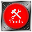Tools metallic icon — Stock Photo