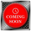 Coming soon metallic icon — Foto Stock