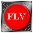 FLV metallic icon — Stock Photo