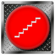 Stairs metallic icon — Stockfoto