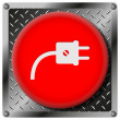 Plug metallic icon — Stockfoto