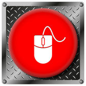 Mouse metallic icon — Stock Photo
