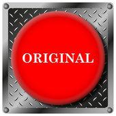 Orijinal metal simgesi — Stok fotoğraf