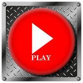 Play metallic icon — Stock Photo