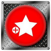 Add to favorites metallic icon — Stock Photo