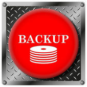 Back-up metallic icon — Stock Photo