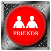 Friends metallic icon — Stock Photo