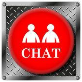 Chat metallic icon — Stock Photo