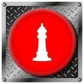 チェス金属アイコン — ストック写真