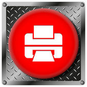 Printer metallic icon — Stock Photo