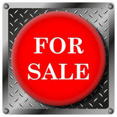 For sale metallic icon — Stock Photo