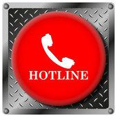 Icône métallique hotline — Photo