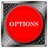 Options metallic icon — Stock Photo