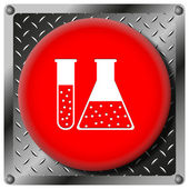 Chemistry set metallic icon — Stock Photo