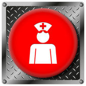 Nurse metallic icon — Stock Photo
