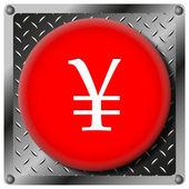 Yen metallic icon — Stock Photo