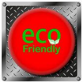 Eco Friendly metallic icon — Stock Photo