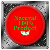 100 % 天然の製品金属アイコン — ストック写真