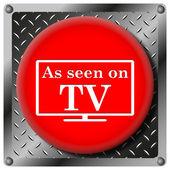 As seen on TV metallic icon — Stock Photo