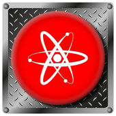 Atoms metallic icon — Stock Photo