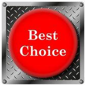 En iyi seçim metalik simgesi — Stok fotoğraf