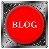 Blog metallic icon — Stock Photo