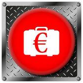 Euro bag metallic icon — Stock Photo