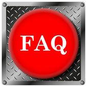 FAQ metallic icon — Stock Photo