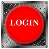 ログイン金属アイコン — ストック写真
