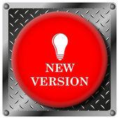 新しいバージョンの金属アイコン — ストック写真