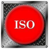 ISO metallic icon — Stock Photo