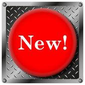 New metallic icon — Stock Photo