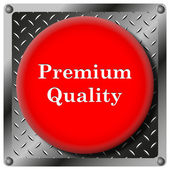 Premium quality metallic icon — Stock Photo
