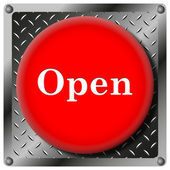 Open metallic icon — Stock Photo