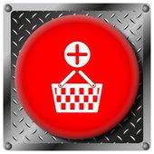 Add to basket metallic icon — Stock Photo